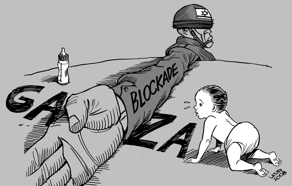 Carlos Latuff - Caricaturista Revolucionario Gaza-blockade-2