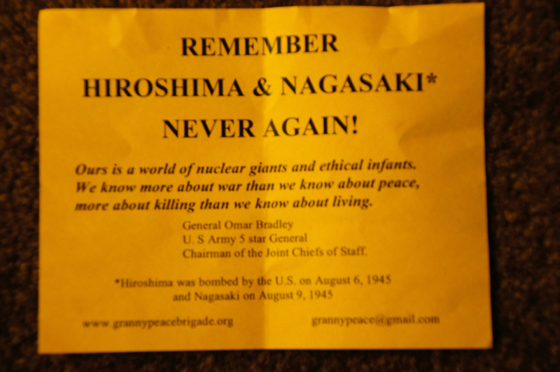 double photo essay day of action in new york hiroshima and  desertpeace