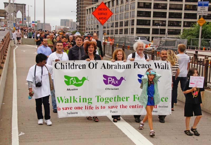 People Walking Brooklyn Bridge On 9 11