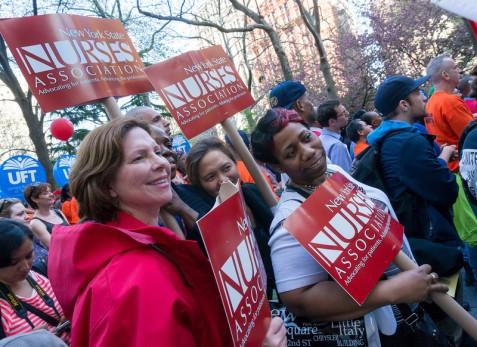 Folks from NYSNA - the NY State Nurses Association.