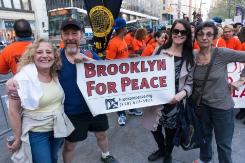 Brooklyn For Peace was in the house for May Day.