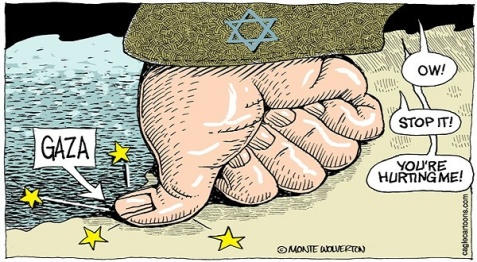 cartoon-gaza-israel-uneven-conflict