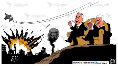 netanyahu-abbas-love-horror-movies-al-araby