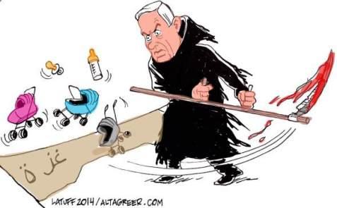 netanyahu-grim-reaper-of-gaza-altagreer