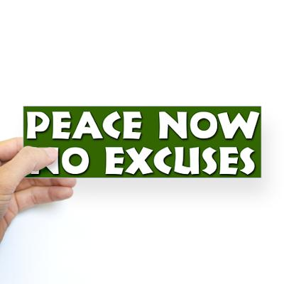 peace_no_excuses_bumper_sticker