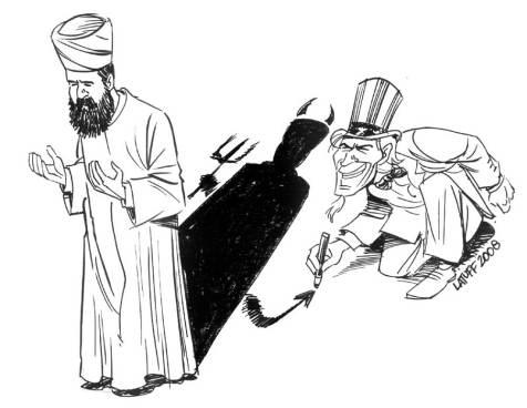 "'Demonization of Islam' ""Copyleft' by Carlos Latuff"