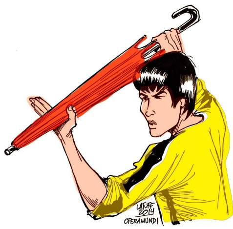 Hong Kong govt says umbrellas are Kung Fu weapons of mass destruction