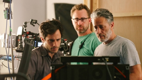 Jon Stewart on the set of Rosewater, his new film that centers around an imprisonment of an Iranian journalist. (Photo: Associated Press)