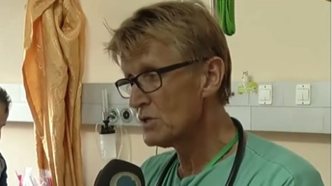 Norwegian doctor Mads Gilbert at Gaza's Shifa Hospital during 2014's Operation Protective Edge (screen capture: YouTube) Read more: Israel bans co-author of Lancet letter from Gaza | The Times of Israel http://www.timesofisrael.com/israel-bans-co-author-of-lancet-letter-from-gaza/#ixzz3J9wWEAdk  Follow us: @timesofisrael on Twitter | timesofisrael on Facebook