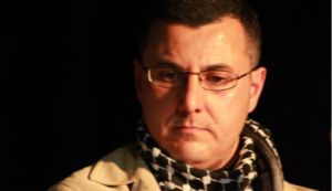 Omar Barghouti, founder of Boycott Divestment Sanctions at the 'Busboys and Poets' event in Washington D.C. on April 15, 2011.