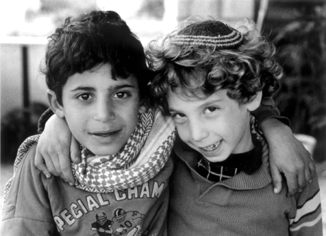 Debbi Cooper's 1988 photo of an Israeli and a Palestinian actually features an Israeli and a Palestinian.
