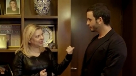 Sara Netanyahu in the video produced by designer Moshik Galamin. 'Many were not fooled by her attempt to refute the rumors about hedonism and squandering'