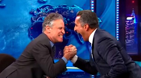 "Jon Stewart and Bassem Youssef on ""The Daily Show"" / Youtube"