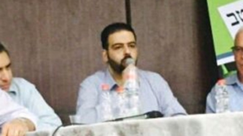 Za'atra at the panel (Photo: Bar Ilan students union)