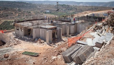 A construction site in Tsur Hadassah. Photo by Eyal Toueg