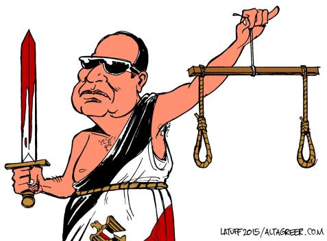 El-Sisi's Scales of Justice by Latuff