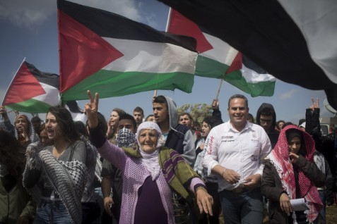 "Peter Beinart says Palestinians in Israel, like these participants in the March of Return at Hadatha village on 23 April, should not be allowed ""full, equal citizenship."" (Oren Ziv / ActiveStills)"