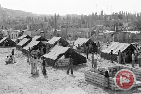Palestinians in the Baqa'a refugee camp in Jordan in 1970. (UNRWA Archives/AFP)