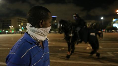 Israeli of Ethiopian descent at Rabin Square (Photo: Yaron Brener)