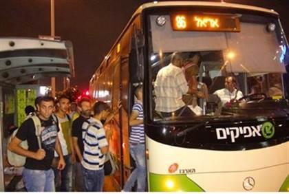 Bus in Samaria (illustration).Hezki Ezra