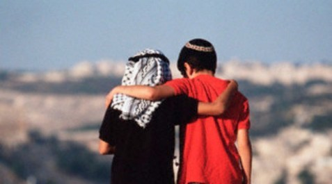RICKI ROSEN Staged: Ricki Rosen's photograph meant to depict an Israeli boy and a Palestinian boy in Jerusalem has been reproduced hundreds of times.