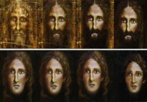 Detectives used a computer program to reverse the ageing process on an image from the Turin Shroud . (photo credit:ROME POLICE)