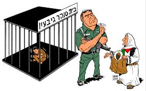 Israel cages Palestinian children in outdoor during freezing weather By Latuff
