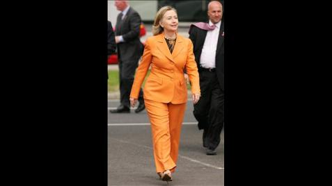 Preparing for her prison garb?