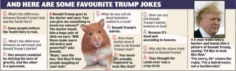 Donald Trump hair jokes