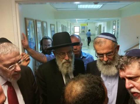 Rabbis visit Palestinian family targeted in firebomb attack Tzohar