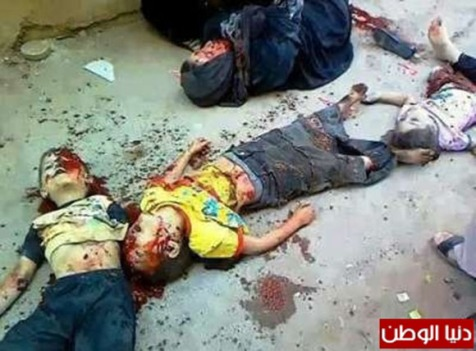 Palestinian children killed in Israeli shelling, Gaza Strip. Their names are unknown, unlike the 2 kittens described below