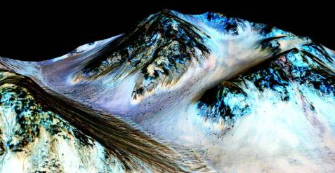 New findings from NASA's Mars Reconnaissance Orbiter (MRO) provide the strongest evidence yet that liquid water flows intermittently on present-day Mars.