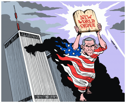 This is the cartoon I made 10 years after the WTC attacks in September 11, 2001