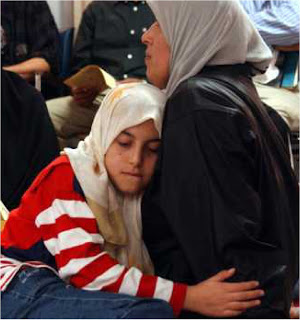 Marwa and her mother at the mosque after 11 Sept 2001