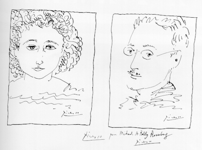 Sketches of the Rosenbergs by Pablo Picasso