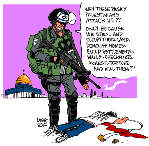 Those pesky Palestinians ... Image by Carlos Latuff