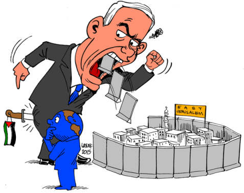 Netanyahu officially divides Jerusalem Image by Carlos Latuff