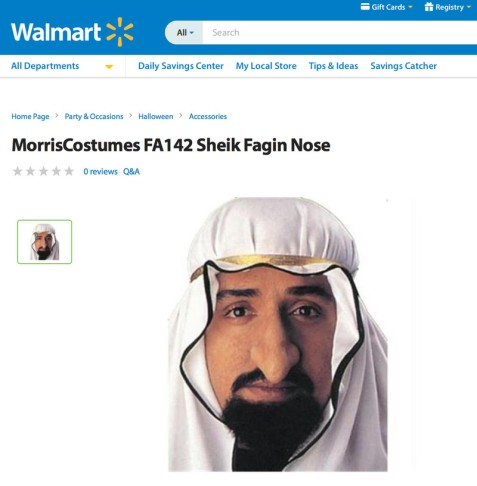 "Walmart's ""Sheikh Fagin"" costume manages to be both anti-Arab and anti-Semitic."