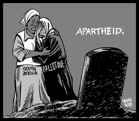 Israel And Apartheid: By People Who Knew Apartheid. Image by Latuff
