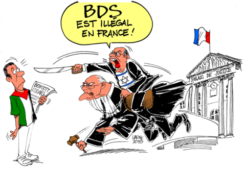 Bonjour Charlie_Hebdo_ would you like to publish this cartoon about Israel boycott illegal in France?