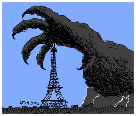 Darkness Falls Across Paris