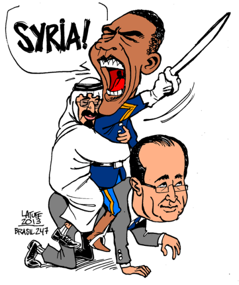Blaming Muslims/refugees/Russia/Iran for Paris attacks, EXCEPT Hollande's policy on Syria