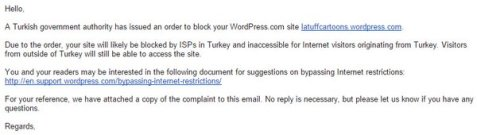 Turkey has issued an order to block my cartoon page!