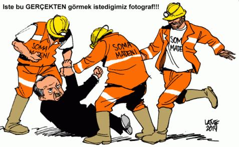 Erdogan advisor kicking protester cartoon was used by Turkey to make censorship order of Latuff Cartoons