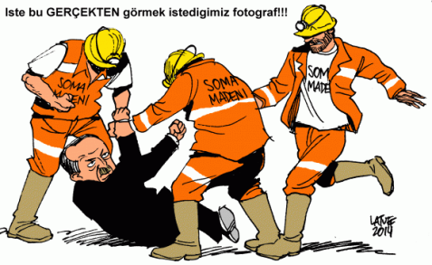 Erdogan advisor kicking protester cartoon was used by Turkey to make censorship order of Latuff Cartoons