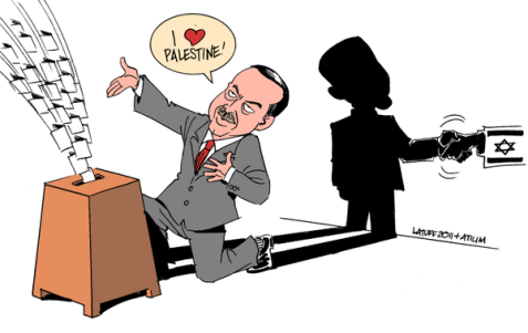 In a country where majority is Muslim, proPalestine rethoric means votes. In fact Turkey/Israel are allies