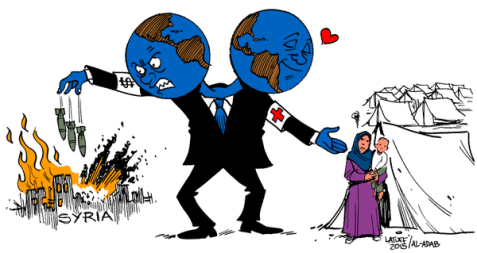 Cartoon of Christmas: World's Jekyll & Hyde Policy for Syria