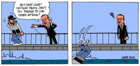 Hero Erdogan Saves Man From Suicide!