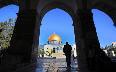 "A proposed law would allow Israeli authorities to expel Palestinians from occupied Jerusalem on grounds of ""disloyalty.""( Mahfouz Abu Turk APA images)"