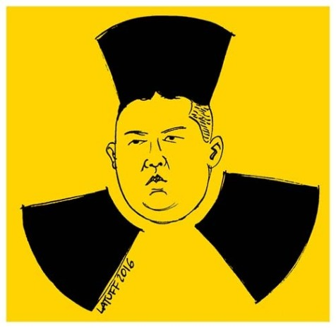 Screen shot of nuclear Kim Jong-un
